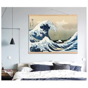 Kanagawa Waves Japanese Ukiyo-style decorative painting living roomrestaurant Entrance Painting Wall paintings Scroll mural - intl - 3