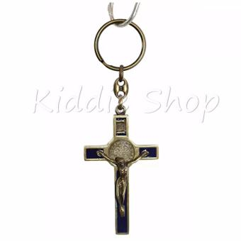 KEYCHAIN CROSS HOLY CATHOLIC (BLUE VINTAGE BRONZE) - 2