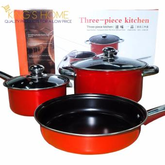 King's 3 Quality Non-Stick 3 pcs Pan Price Philippines