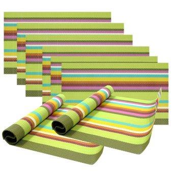 Kitchen Hub Fashion Placemat Set of 8 ST1 (Multicolor)