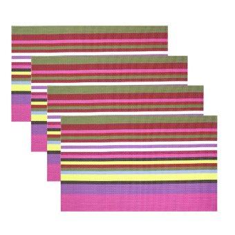 Kitchen Hub Fashion Striped Placemat Set of 4 (G-P)