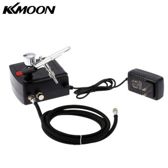 KKmoon 100-250V Gravity Feed Dual Action Airbrush Air CompressorKit for Art Painting Tattoo Manicure Craft Cake Spray Model NailTool Set - intl - 3