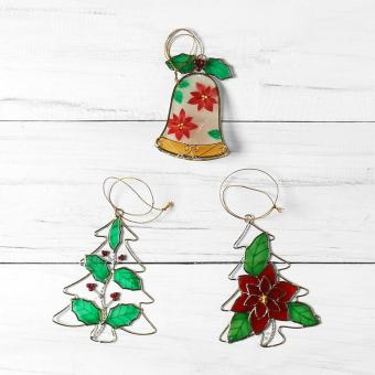 Kultura Capiz Christmas Decoration Ornaments (Set of 3)