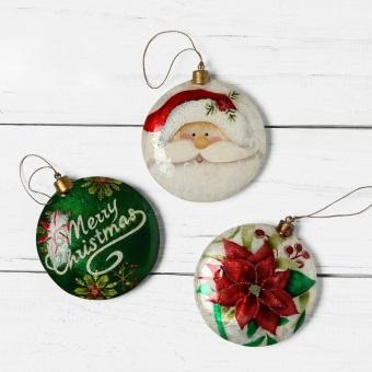 Kultura Capiz Disc Ornament (Set of 3)