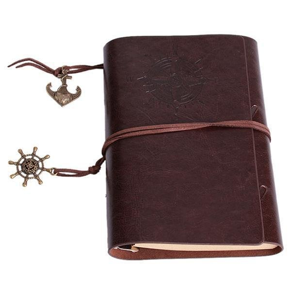 ... LALANG Retro Loose-leaf Blank Pages String Notebook Journal Diary S(Dark Coffee) ...