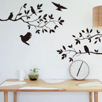 LALANG Tree And Bird Wall Stickers Art Decals Wallpaper Part 38