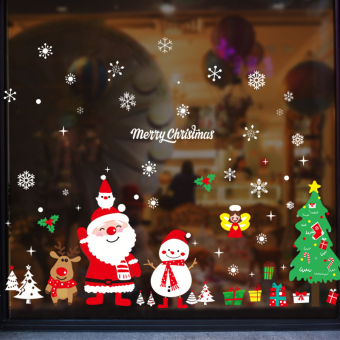 Large mall shop window wall sticker