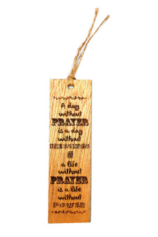 Laser Engraved Wooden Bookmark with Quote Price Philippines