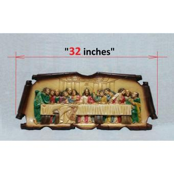 Last Supper Painted - Colored Wood Carving ( LARGE - 32 INCHES ) Price Philippines