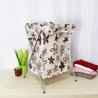 Laundry Hamper (Beige/Floral) - 2