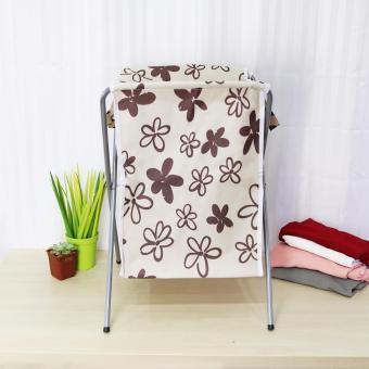 Laundry Hamper (Beige/Floral) - 3