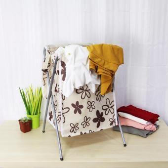 Laundry Hamper (Beige/Floral) - 4