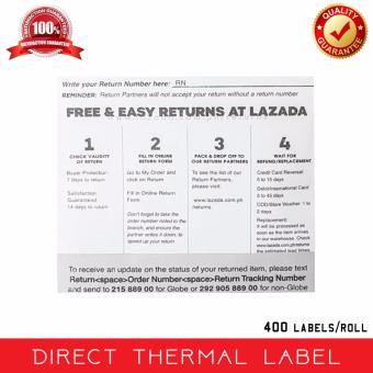 Lazada A6 3 -Layer Direct Thermal Label (400 labels/roll) - WITH PRINT