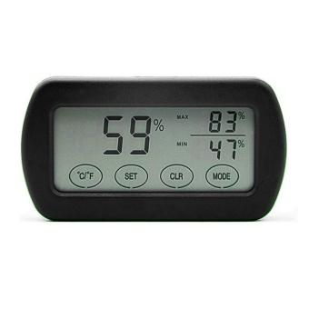 LCD Display Egg Incubator Thermometer Hygrometer Meter of Humidity Temperature Black - intl - 2