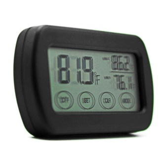 LCD Display Egg Incubator Thermometer Hygrometer Meter of Humidity Temperature Black - intl - 3