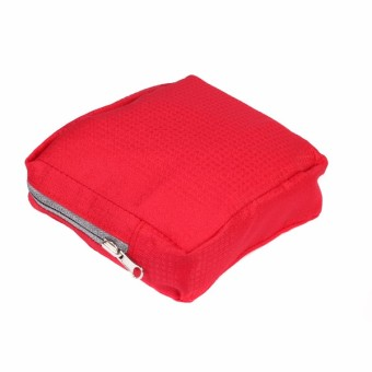 Le Organize Alphra Ripstop Foldable Small Duffle Bag - Red - 3