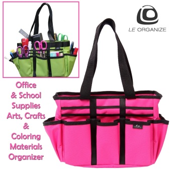 Le Organize Tragen Canvas Carry-All Organizer - Pink