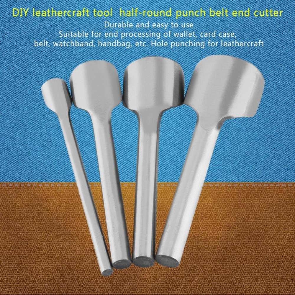 ... Leather Punch Craft Cutter Tool Strap Belt Wallet End Half-Round DIY Set (20mm ...