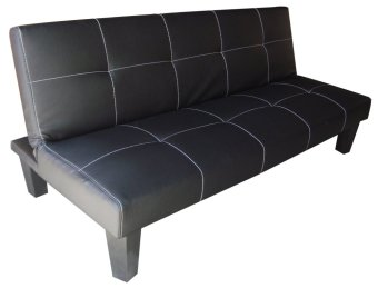 Leather Sofa Bed (Black)
