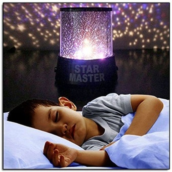LED Colorful Sky Star Projector Lamp Night Light (Blue) - intl