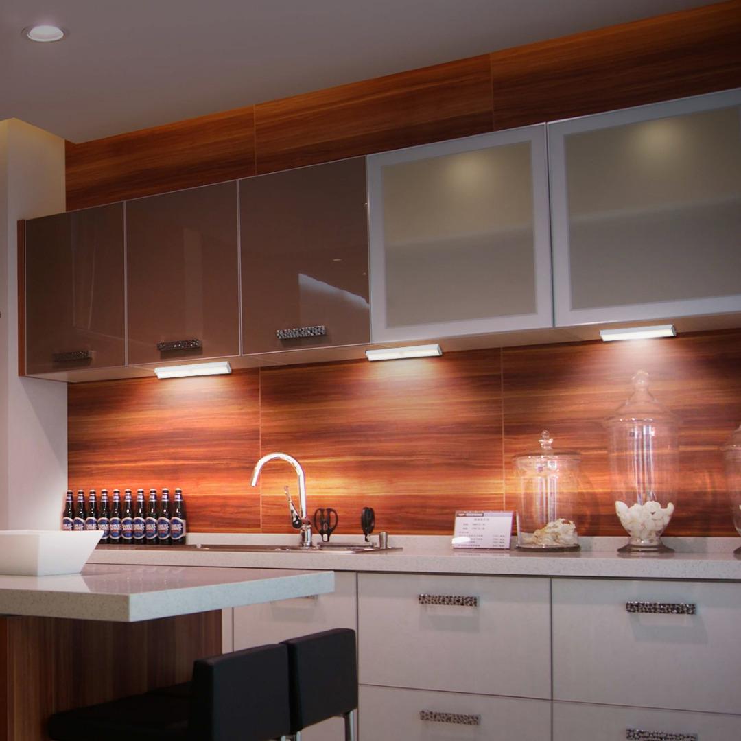 ... LED Dimmable Human Induction Cabinet Lights Under Cabinet Lighting 12W  900lm12V Warm White Closet Lig PIR ...