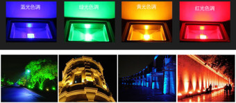 Led Floodlights 10W Lighting IP65 Outdoor Spotlights RGB with Remote Controller Spot Flood Lamp (Multi-Color) - Intl - 4
