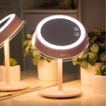Led lighted makeup vanity mirror makeup lamp with touchscreen led lighted makeup vanity mirror makeup lamp with touchscreen seven color lights rechargeable bedside table lamp mozeypictures Gallery