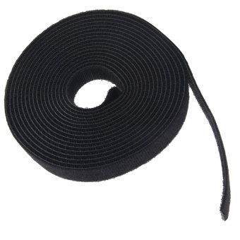 Leegoal 4.5 Meter Self Adhesive Hook and Loop Tape Cable Ties Roll(1 Roll,Black) - intl - 4