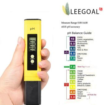 Leegoal LED Digital PH Meter Tester For Water Tank Aquarium PoolHot Tub, PH Pen Tests Water Quality Tester (Yellow) - intl Price Philippines