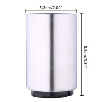 leegoal Magnetic Automatic Beer Bottle Cap Opener,Stainless SteelPush Down Beer Opener,Silver - intl - 4