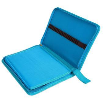 leegoal Pencil Holder Bag Pencil Zippered Wrap Colored PencilsOrganizer Case Roll Multi Foldable Purpose Pouch,72 Slot,Sky Blue -intl - 4