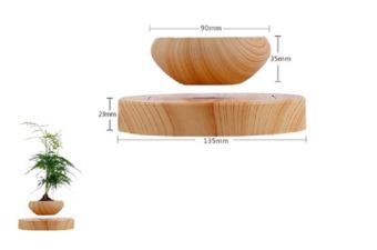 Levitation Air Bonsai (no plant) Self balance magnetic Suspensionflower pot pottedplant levitate tubs - 4