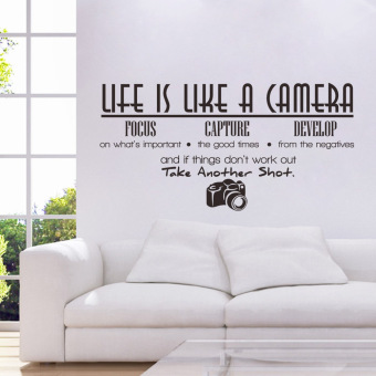 Life Is Like A Camera Quote Wall Stickers Home Decals Home Study Decoration DIY - 2