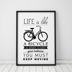 Life Quote Wall Art Print Poster, Wall Pictures For Home Decoration, Frame  Not Include
