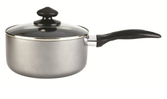 Lifestyle 16cm Non-stick Induction Sauce Pan with Glass Lid
