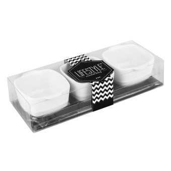 Lifestyle Square Serving Set of 8 (White)