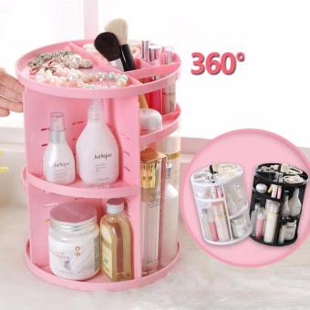 Limited Plastic Cosmetic Storage Box 360 Degree Rotation Makeup Organizer Boxes Cosmetics Receive A Case Bins - intl - 3