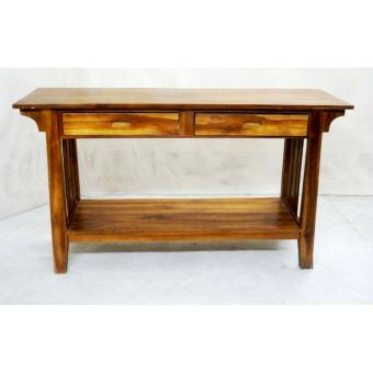 Linden Teak Handcrafted Solid Teak Wood Minimalis Console Table ...