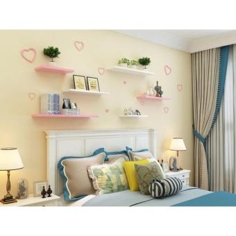 Line Shape Floating Wall Shelves Set of 3 - 2