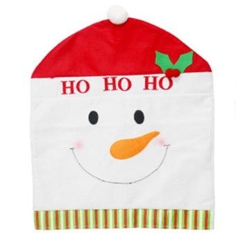 LingStar Christmas Snowman Chair cover Kitchen Seat Back Home Party Decoration 50cm*60cm - intl - picture 2
