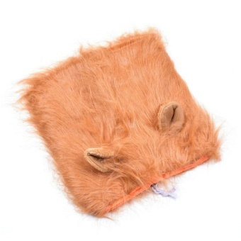 Lion Mane Headwear Wig for Dogs Dogloveit Dog Costume with GiftType D Light Brown With Ear - intl - 3