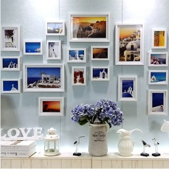 Living room photo wall frame wall photo wall traceless nail