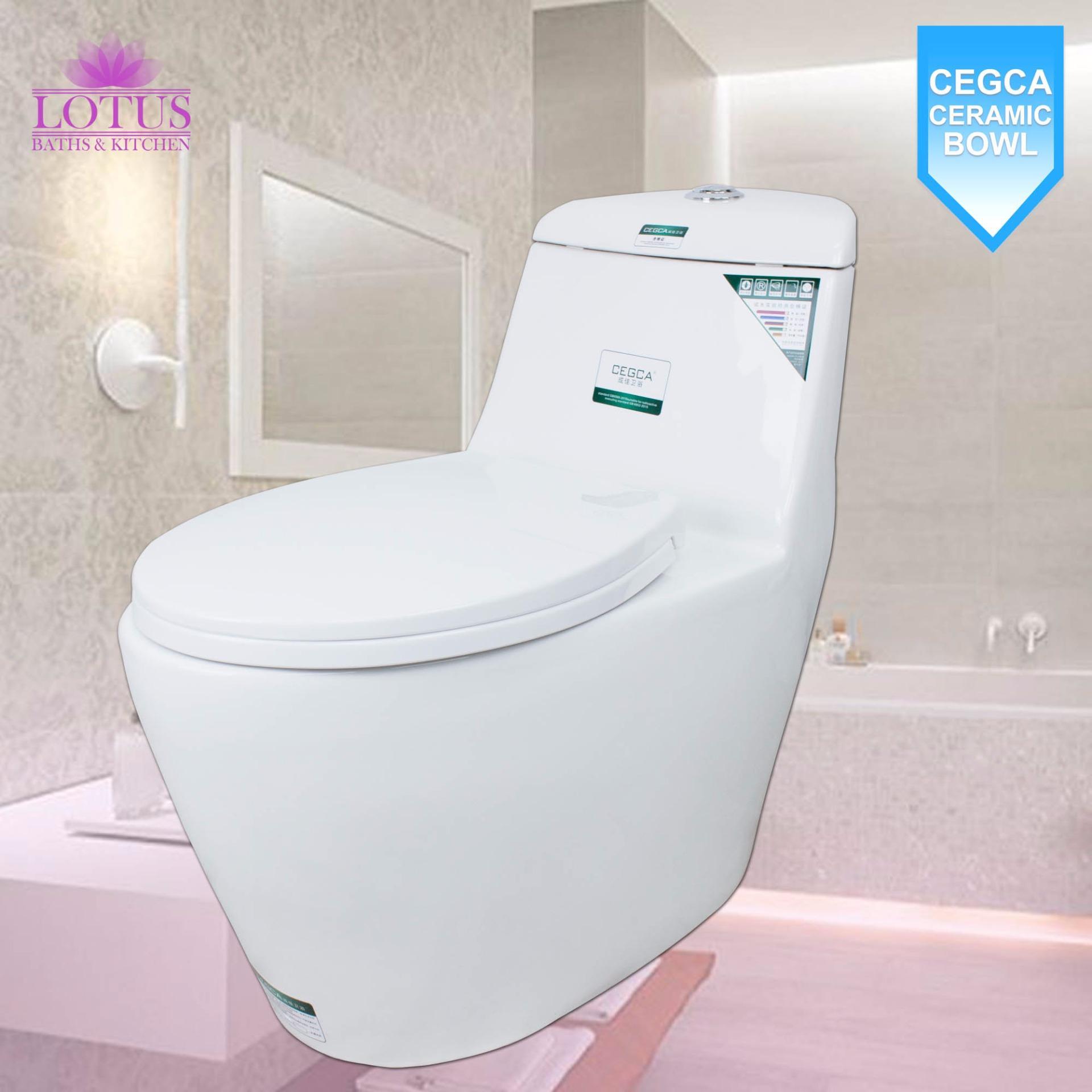 Lotus CEGCA CJ8034 Ceramic Bathroom Water Closet Toilet Bowl (White)  Philippines
