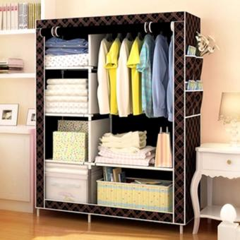 LOVE & HOME High Quality Zipper Storage Wardrobe and Clothes Organizer (Chocolate)