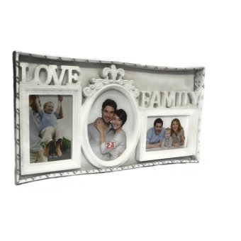 Love Family Collage Picture Frame (White) - picture 3