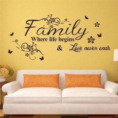 Love Family Quotes Wall Stickers Decorations Diy Home Decals Vinyl Art Room  Mural Posters Adesivos De