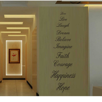 Love Live Hope Laugh Wall Quote Decal Removable Stair Wall StickersDecor Vinyl - Intl - 2
