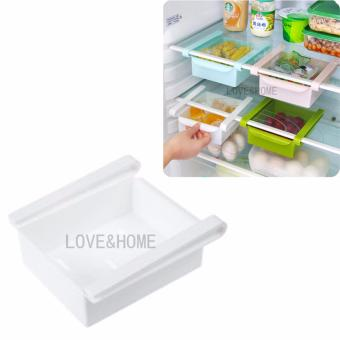 LOVE&HOME Fisca Creative Plastic Refrigerator Storage Box Rack Freezer Shelf Holder Multi-functional Kitchen Drow- off Classify Content Box (White)