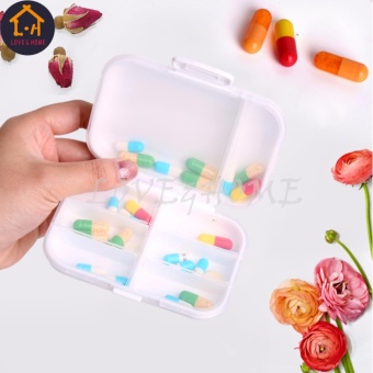 LOVE&HOME Plastic Portable 8 Slots Pills Box Medicine Tablets Storage (White) - 3