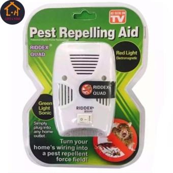 LOVE&HOME Riddex Quad Pest Repelling Aid Features Sonic PestRepelling Aid Set of 2 - 3